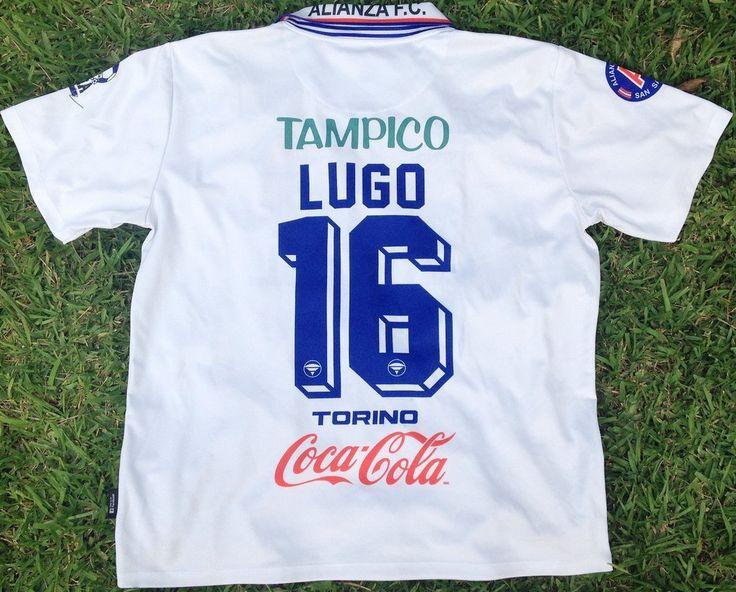 """Alianza FC, Men's Retro Soccer Jersey, Cristal 96', Lugo #16 """"Replica"""""""