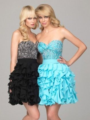 Sweetheart Mini Chiffon A Line Black Homecoming Dress #ShopSimple #allureprom