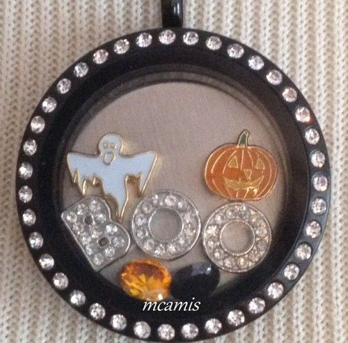 Ghost Pumpkin Boo Letter Halloween Living Locket Floating Charm Set | eBay for Origami Owl Living Locket (Charms Only)