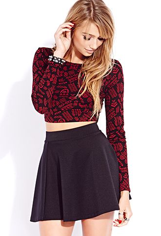 Ditsy Geo #Crop Top  Get 4% cash back: http://www.stackdealz.com/deals/Forever21-Coupon-Codes-and-Discounts--/