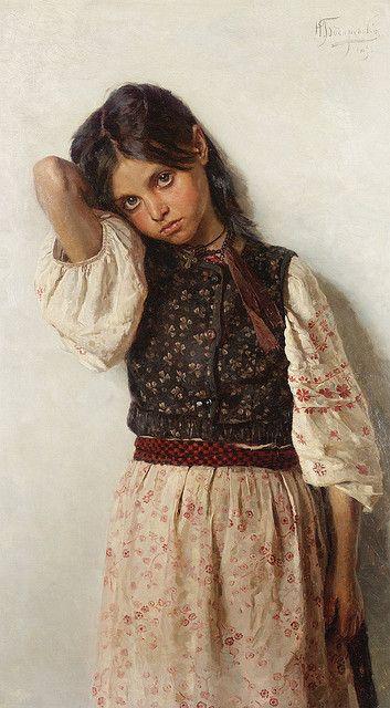 "Nikolai Kornilievich Bodarevsky (1850-1921), ""Girl from Little Russia"" by sofi01, via Flickr"
