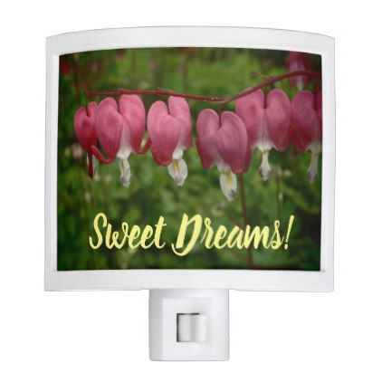 Floral Bleeding Hearts Night Lite - light gifts template style unique special diy