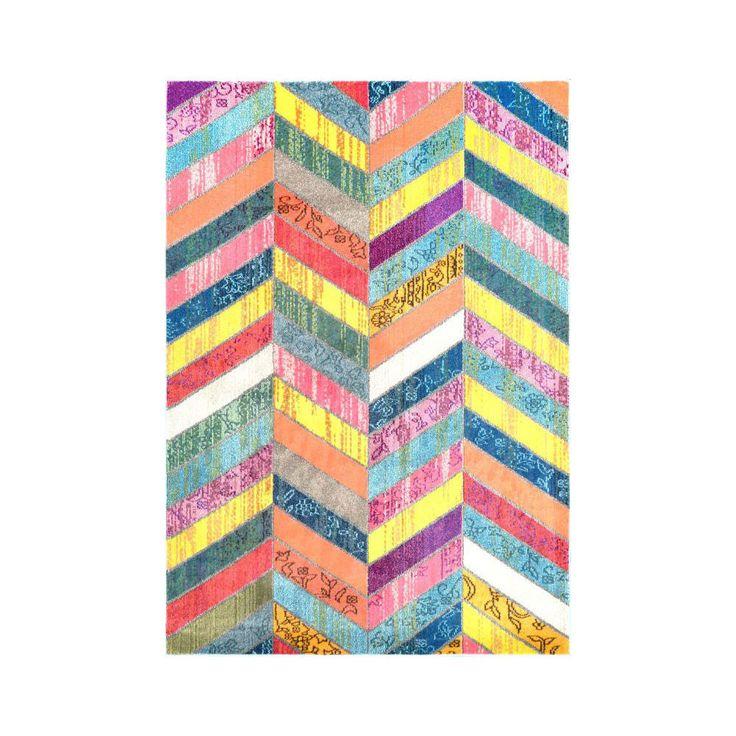 Chevron pattern, Multi-color Rug