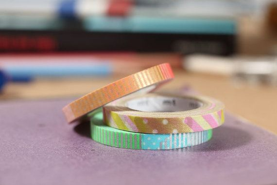 MT Washi Tape MT Slim Deco E Japanese Masking Tape MT Slim