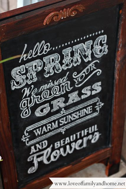 Summer Porch Makeover & Chalkboard Art