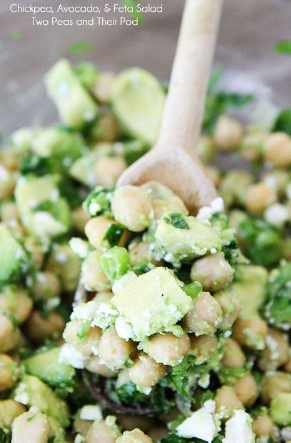 Chickpea, Avocado And Feta Salad- Gluten Free - Vegetarian