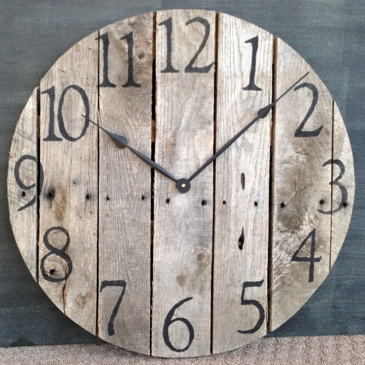 large rustic pallet wood wall clock pallet wood walls