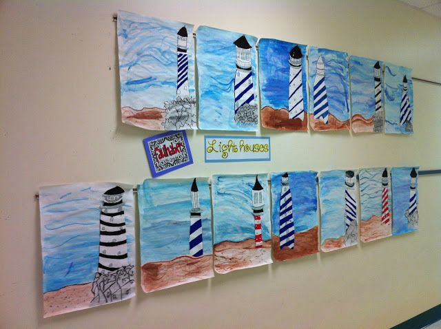 Apex Elementary Art: May 2012 they live in NC so drew & painted Lighthouse at Cape Hatteras, NC. We would probably choose OH landmarks like local courthouse maybe statehouse as representative of local architecture.