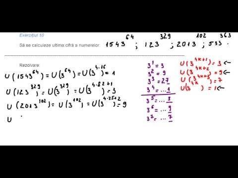 Clasa a V-a - Cap. Numere naturale - ex. 10 - ultima cifra a lui 3 la o putere - YouTube