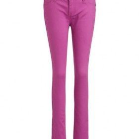 MATERIAL GIRL Coloured Skinny Jeans - EGGPLANT - 0