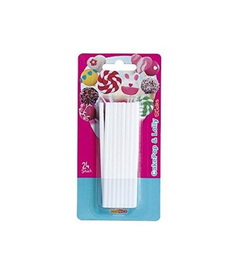 DekoBack 32048 Stiele für Cake Pops & Lolly Sticks 24Stck. Lutscher  - 2-flowerpower