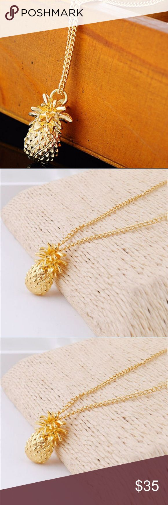 Pineapple Gold Plated Necklace Very cute Gold Plated pineapple necklace. New. Jewelry Necklaces