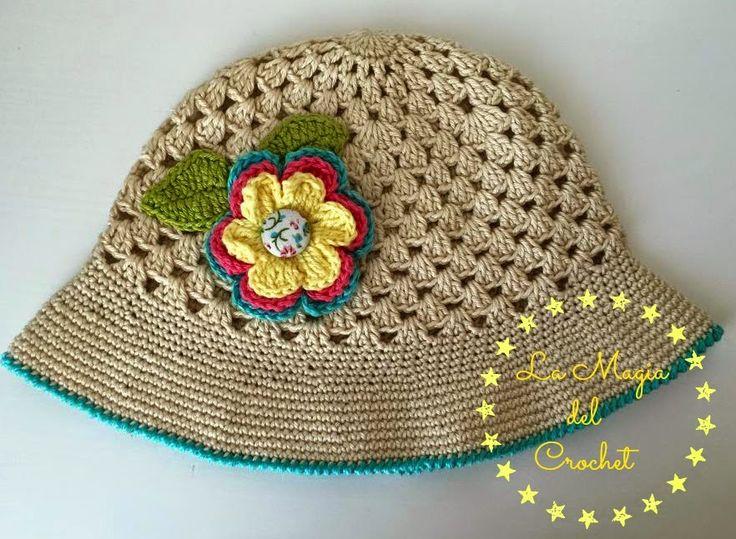 SOMBRERO DE VERANO PASO A PASO CON VÍDEO TUTORIAL - SUMMER HAT WITH STEP BY STEP TUTORIAL VIDEO   Patrones Crochet, Manualidades y Reciclado
