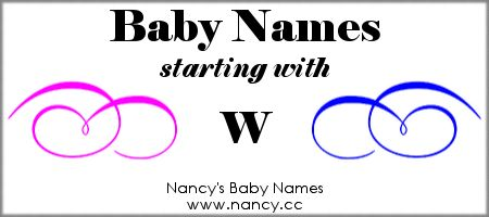 Long list of names (both boy names and girl names) that start with W. The names link to popularity graphs. #babynames