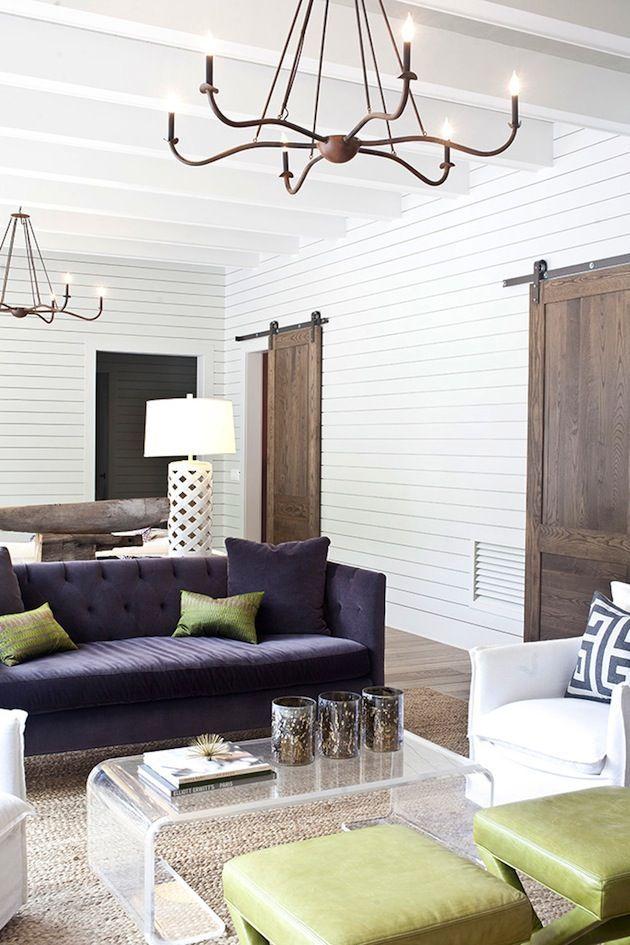 Classic modern farmhouse living room fredericksburg tx for Texas themed living room