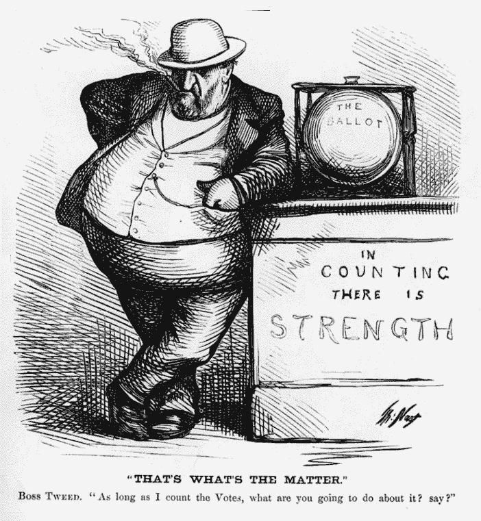 Boss Tweed of Tammany Hall cartoon by Thomas Nast