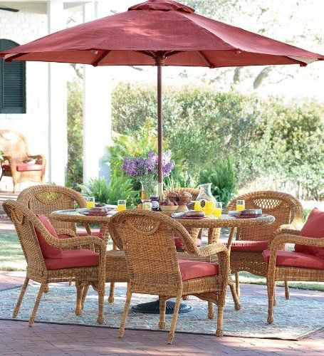Prospect Hill Weather-Resistant Outdoor Resin Wicker Oval Dining Table and Six Chairs with Powder-Coated Aluminum Frames, in Antique White by Prospect Hill, http://www.amazon.com/dp/B005FYBJDS/ref=cm_sw_r_pi_dp_tdKOrb1JK3962