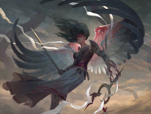 As incríveis ilustrações de fantasia para card games de Clint Cearley - Bruna, The Fading Light - Magic: the Gathering