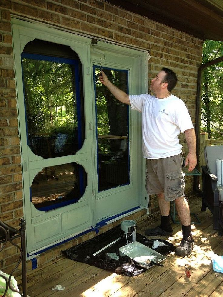 -    Personalize Your Screen Door With a Custom Stencil -    THAT WOULD MAKE A REALLY GOOD       LOOKING PANTRY DOOR, ESPECIALLY IF       YOUR KITCHEN IS RUSTIC - COUNTRY