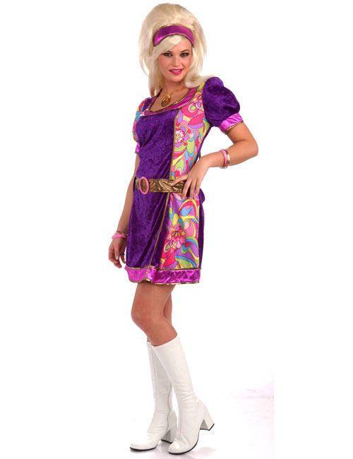 Discoteca vestito costume Uomo 70er 80er anni Hippie party festa vestito party Costume
