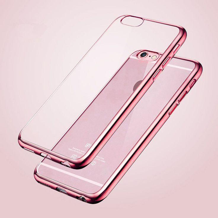 Scintillement de luxe Souple Capa Pour Iphone7 Housse En Silicone Pour Iphone 6 6 S Plus Cas Transparent Pour 5S Iphone se 5 Cas Coque