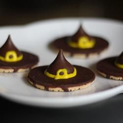 """Witches' Hats   """"A cute and simple little Halloween treat that everyone will love."""""""