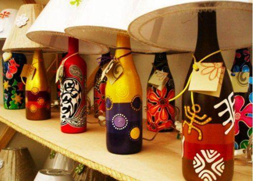 1285 best reciclando botellas de cristal images on - Manualidades con botellas de cristal ...