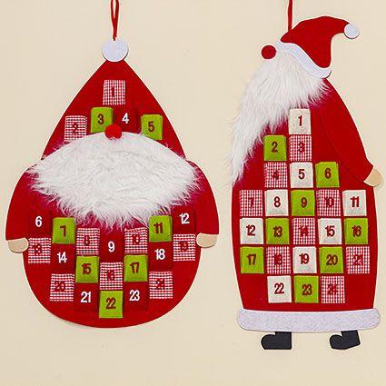 Adventskalender  #weihnachten #filz #aufhänger #adventskalender #weihnachtsmann #bunt