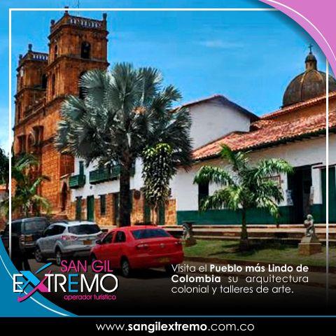 Visita el #Pueblo más #LindoDeColombia su arquitectura colonial y talleres de arte. Infórmate cómo hacerlo en http://goo.gl/u6LczY Contáctanos en: Calle 7 # 10 - 26 Piso 3 Frente al Malecón San Gil Santander. Cel. 304 572 52 20 info@sangilextremo.com.co