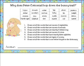 EASTER SKILL RIDDLE FOR SMART BOARD - TeachersPayTeachers.com