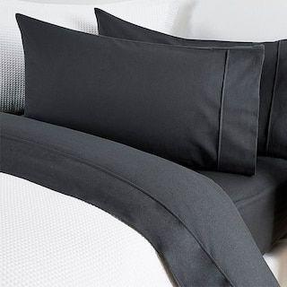 Cotton Flannelette Sheet Set - Charcoal