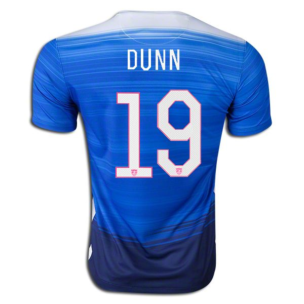 45fe312b1 2015 FIFA Womens World Cup USA Crystal Dunn 19 Youth Away Soccer Jersey ...