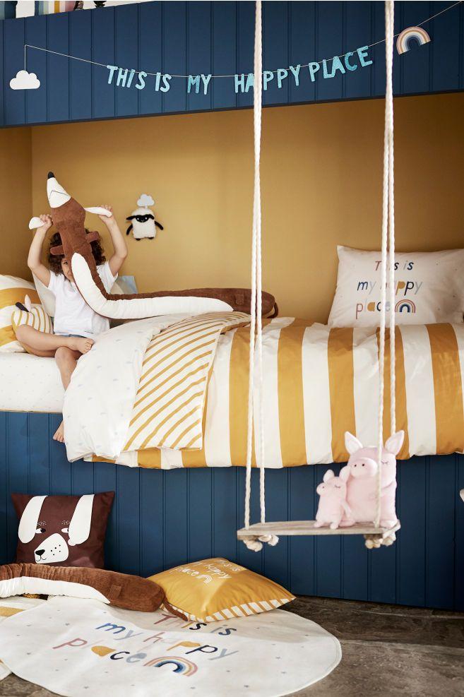 Runder Baumwollteppich – Weiß – Home All | H & M US 1   – Nursery