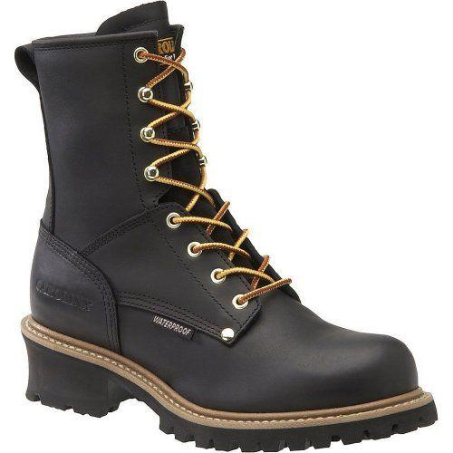 TOPSELLER! Carolina Mens Crazyhorse Work Loggers - Brown Copper Man-Made Boot $97.90