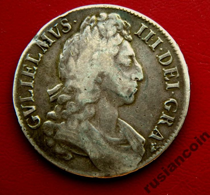 Rare Крона Вильям III 16XX портрет герб СЕРЕБРО Crown Gvlielmvs III 16XX original