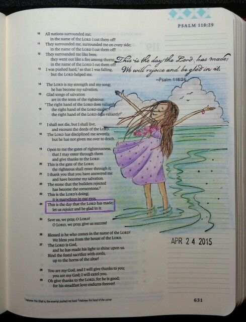 Psalm 118:24 by PaulaKay Bourland Stamps by Phyllis Harris, Unity Stamps