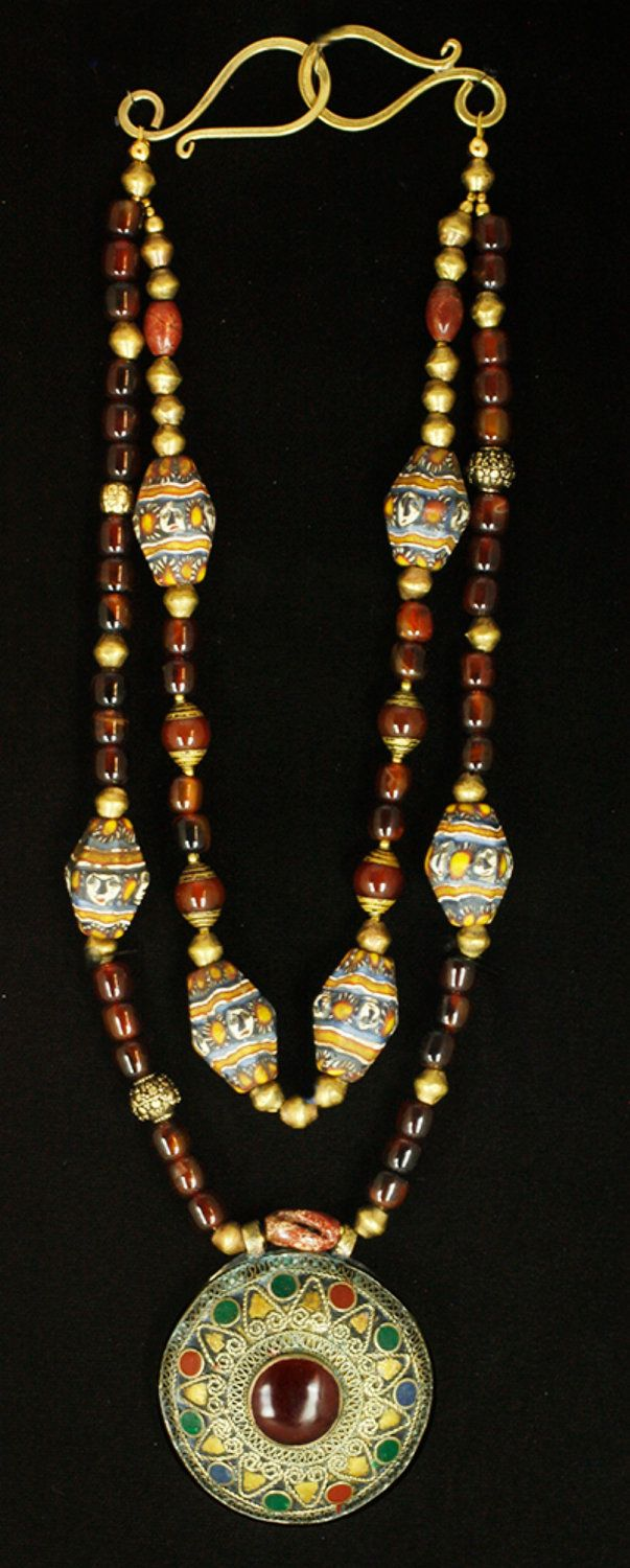 Afghani Face Bead Necklace. $129.50, via Etsy.