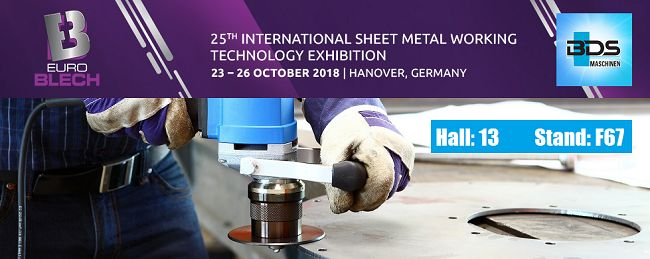 We are pleased to invite you to visit our company stand at EuroBLECH – International Sheet Metal Working Technology Exhibition in Hannover, Germany.  …