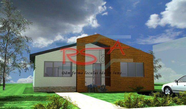 Casa pe parter cu acoperis in sarpanta | RSbA - Birou de arhitectura | http://rsba.ro