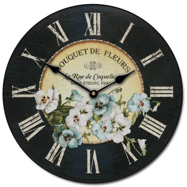 Pansies Clock is custom, handmade and built to order! Comes in all seven sizes…
