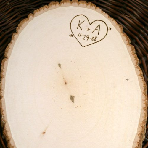 Tree Slice - I like the idea of using these as the cake stands
