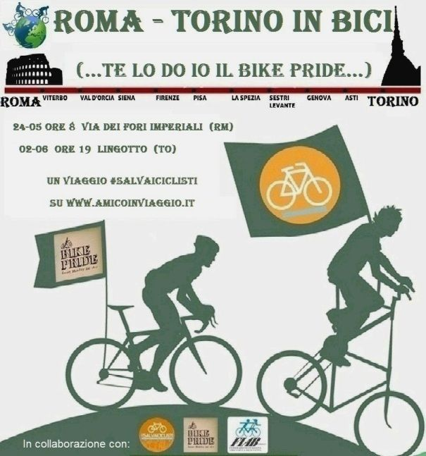 Rome Turin by bicycle for Bike Pride & #salvaiciclisti