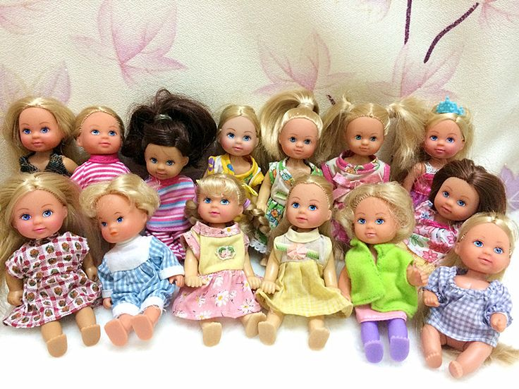 5 VENTA CALIENTE Original SIMBA Kelly Unids/lote Muñecas EVI Lindo Bebé Estilos Mezclados Mini Simba Muñecas 12 cm muñeca Regalo de Los Cabritos Envío Gratis