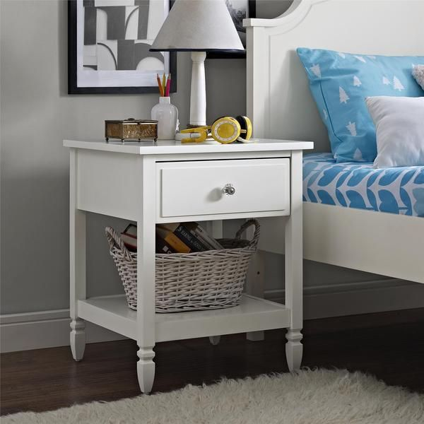 Dorel Living Vivienne White Nightstand | Overstock.com Shopping - The Best Deals on Kids' Nightstands