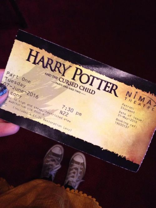 Harry Potter and the Cursed Child Part 1 is now showing, June 7, 2016. in London, but the show is a sell-out until the last of 2017.