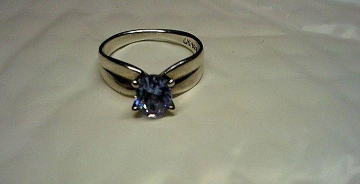 Vintage Amethyst/Purple Quartz-Color Changing Solitaire Ring .925(M) SS 4g Sz 10 #MIMichelson #Solitaire