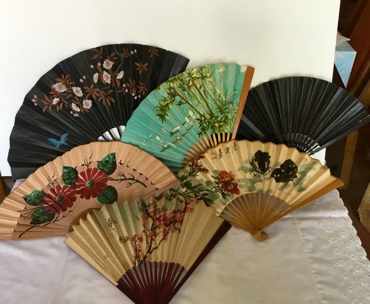 Asian paper fan collection
