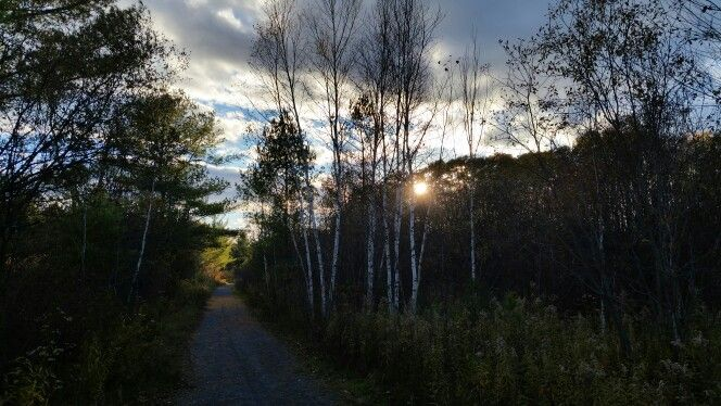 Sunset on the Cataraqui Trail