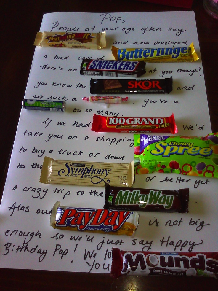Candy Bar Poem For Dad @Ashley Walters Pearson | Father's ...