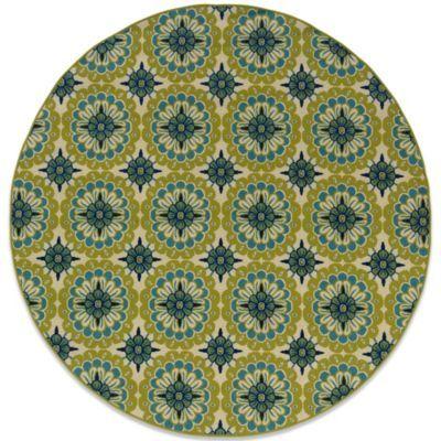 Oriental Weavers Caspian Green/blue Medallion 7&#3…